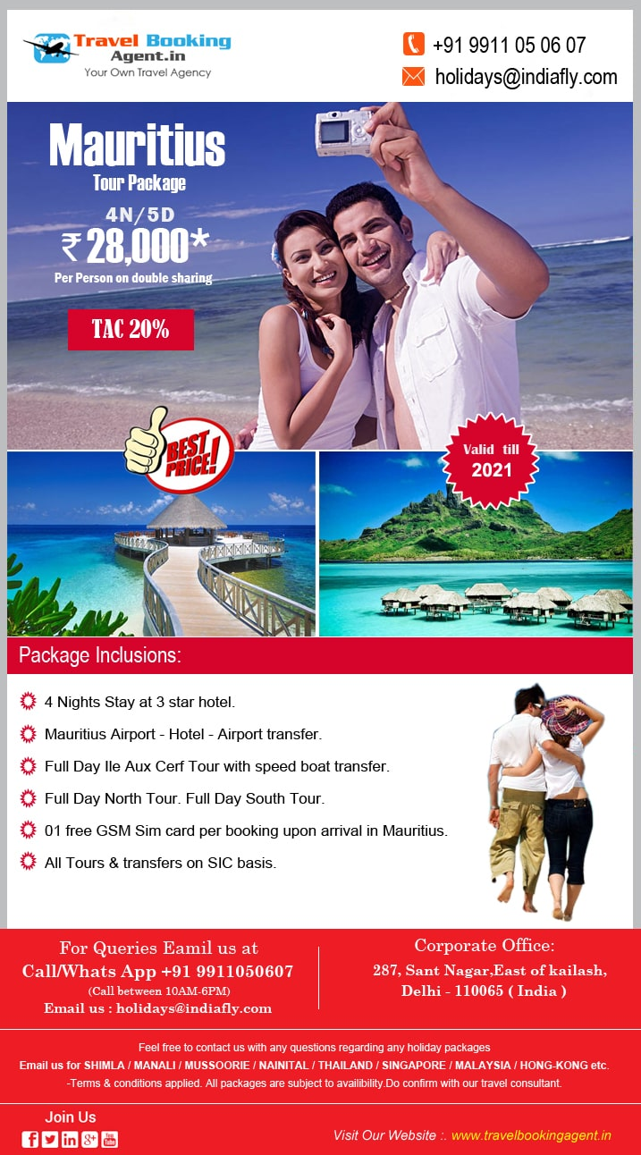B2B Mauritius Holiday Tour Package, Mauritius tour package